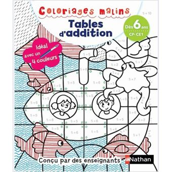 Coloriages Malins Tables D Addition Des 6 Ans Cp Ce1 Broche Claudine Aubrun Savine Pied Achat Livre Fnac
