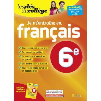 Je M Entraine En Francais 6eme