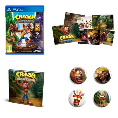 Crash  Bandicoot N'Sane Trilogy Collector Crash-bandicoot-N-Sane-Trilogy-PS4-Pack-Fan-exclusif-Fnac