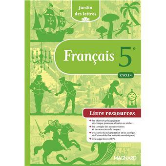 Jardin Des Lettres Francais 5eme Cycle 4 Bimanuel