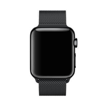 Nouveaux produits 99e0f be92a Bracelet Milanais Noir Sidéral pour Apple Watch 38 mm