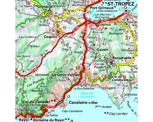 bouches du rhone carte detaillee Carte Bouches du Rhône, Var Michelin Échelle 1/150 000   broché