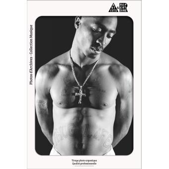 Tupac Photographie d'art Shirtless Format 40x60 cm
