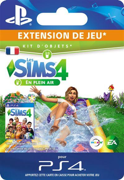 Code de téléchargement Les Sims 4 Kit d'objets En plein air PS4