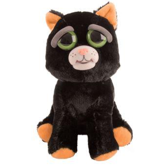Feisty pets black cat