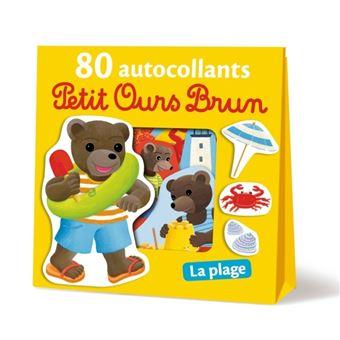 Petit Ours Brun80 autocollants : La plage