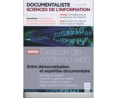 Documentaliste sciences de l'information vol 45 n 3 aout 20