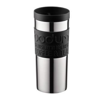 Bodum Travel Mug Reisbeker - RVS - 0.35 l - Black