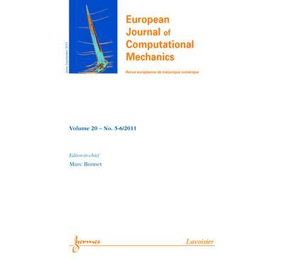 European journal of computational mechanics vol 20 n 56 jun - Hermes Science Publications