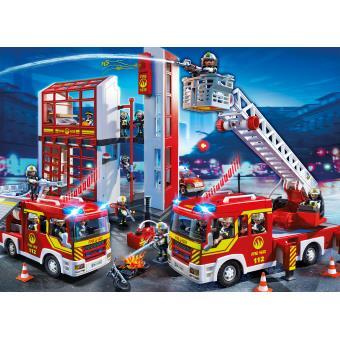 playmobil city action 5361 caserne de pompiers avec alarme playmobil achat prix fnac - Playmobil Pompier