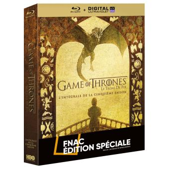 Game Of Thrones, Le trône de ferGame Of Thrones Saison 5 Edition spéciale Fnac Blu-ray