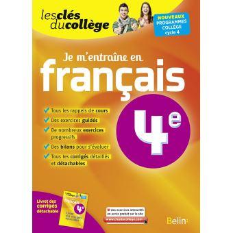 Je M Entraine En Francais 4eme