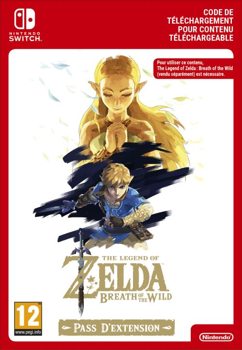 Code de téléchargement The Legend of Zelda Breath of the Wild Expansion Pass Nintendo Switch