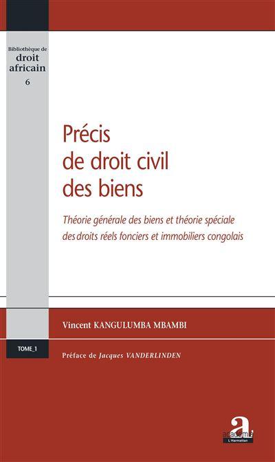 Précis de droit civil des biens théorie générale des biens