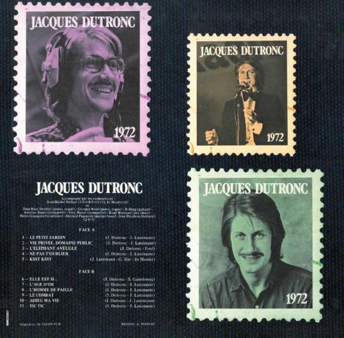 Petit Jardin Vinyle bleu translucide marbré noir - Jacques Dutronc ...