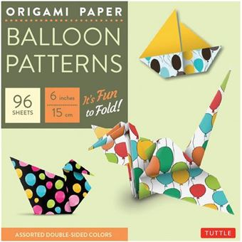 Origami paper ballon patterns small 6 inches