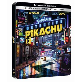Les PokémonPokémon Détective Pikachu Steelbook Blu-ray 4K Ultra HD
