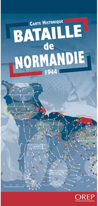 Carte bataille normandie 1944