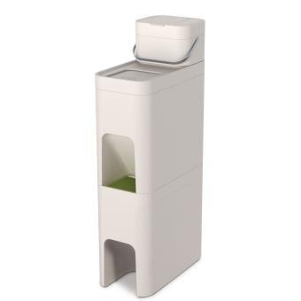 bac tri s lectif joseph joseph 30017 stack 52l blanc. Black Bedroom Furniture Sets. Home Design Ideas