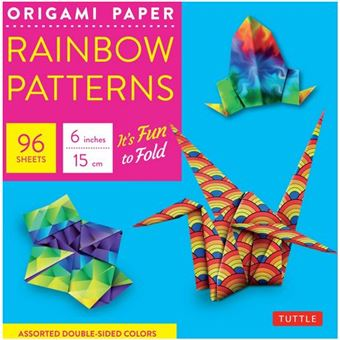 Origami paper rainbow patterns 6 inches