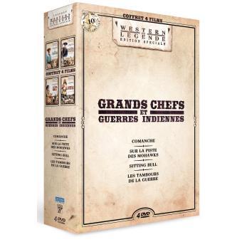 Coffret Grands chefs et guerres indiennes 4 films DVD