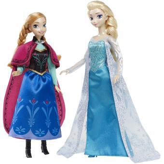 pack collector anna et elsa frozen la reine des neiges disney princesses - Barbie La Reine Des Neiges