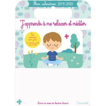 Mon Calendrier Fr.Mon Calendrier Memoniak 2019 2020 J Apprends A Me Relaxer Et Mediter