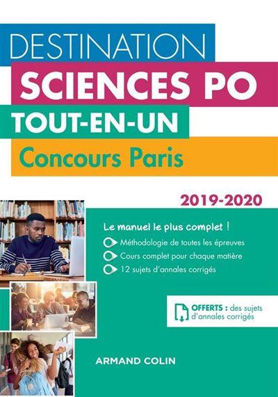 Destination Sciences Po - Tout-en-un - Concours Paris 2019-2020 - 9782200624446 - 21,99 €