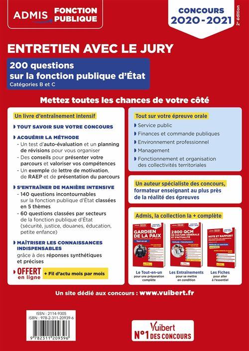 Entretien Avec Le Jury 200 Questions Sur La Fonction Publique D état Catégories B Et C