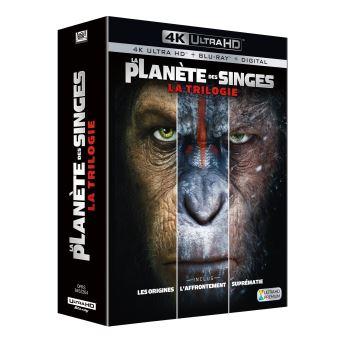 La planète des singesLa Planète des Singes Coffret de la Trilogie Edition spéciale Fnac Blu-ray 4K Ultra HD