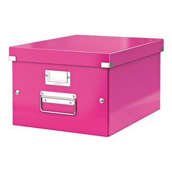 Boite De Rangement A4 Leitz Click Et Store Wow Rose Boite De Classement Achat Prix Fnac