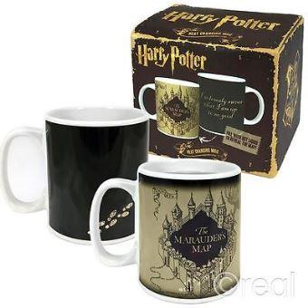 Harry potter marauders map/mug heat changing 400ml