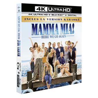 Mamma Mia !Mamma Mia ! Here We Go Again Blu-ray 4K Ultra HD