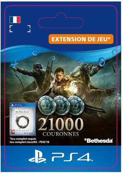 Code de téléchargement The Elder Scrolls Online 21000 Couronnes PS4