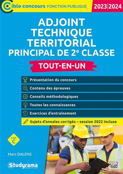 Adjoint technique territorial principal de 2e classe 2020