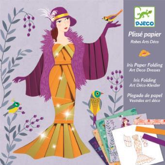 Coffret de bricolage Robes Art Déco Iris Folding Djeco