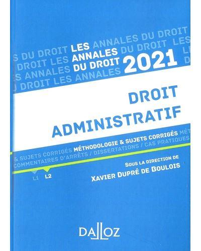 Annales Droit administratif 2021