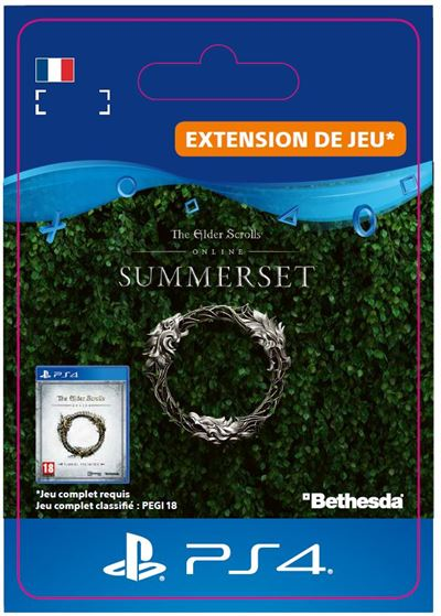 Code de téléchargement The Elder Scrolls Online Summerset PS4