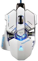 TGLA Souris Gaming The G-Lab Kult 400/W Blanche Base métalliq...