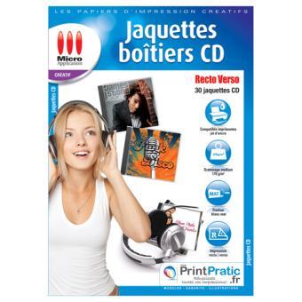 Micro Application jaquettes pour boîtiers CD