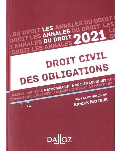 Annales Droit civil des obligations 2021