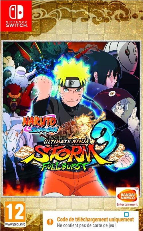Naruto Shippuden Ultimate Ninja Storm 3 Full Burst Code in a Box Nintendo Switch