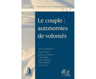 Le couple. auton. de volontes