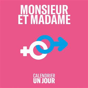 Calendrier Un jour - Monsieur et Madame
