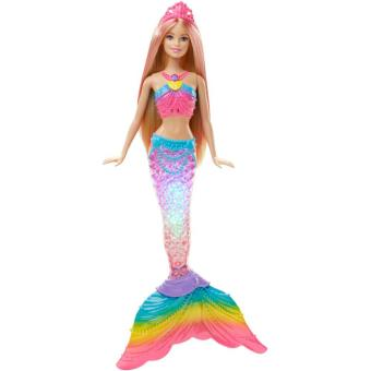 Poup e barbie sir ne dreamtopia couleurs et lumi res poup e achat prix fnac - Barbie barbie sirene ...