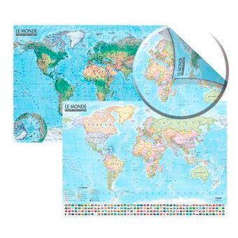 Carte du monde:politique et physique