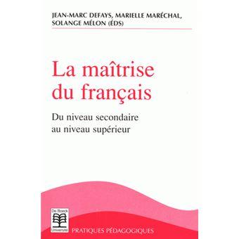 Maitrise Du Francais La