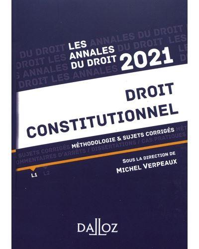 Annales Droit constitutionnel 2021