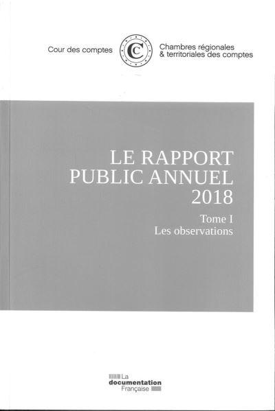 Le rapport public annuel 2018 de la Cour des comptes