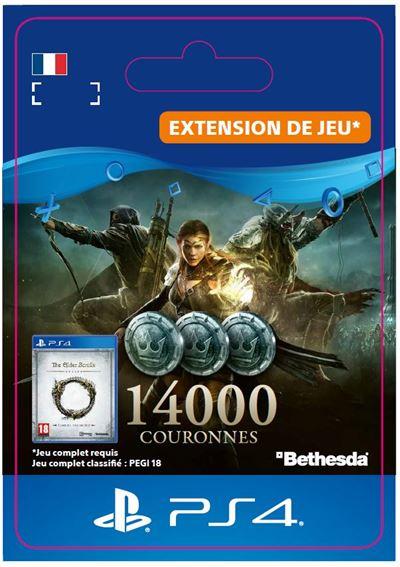 Code de téléchargement The Elder Scrolls Online 14000 Couronnes PS4